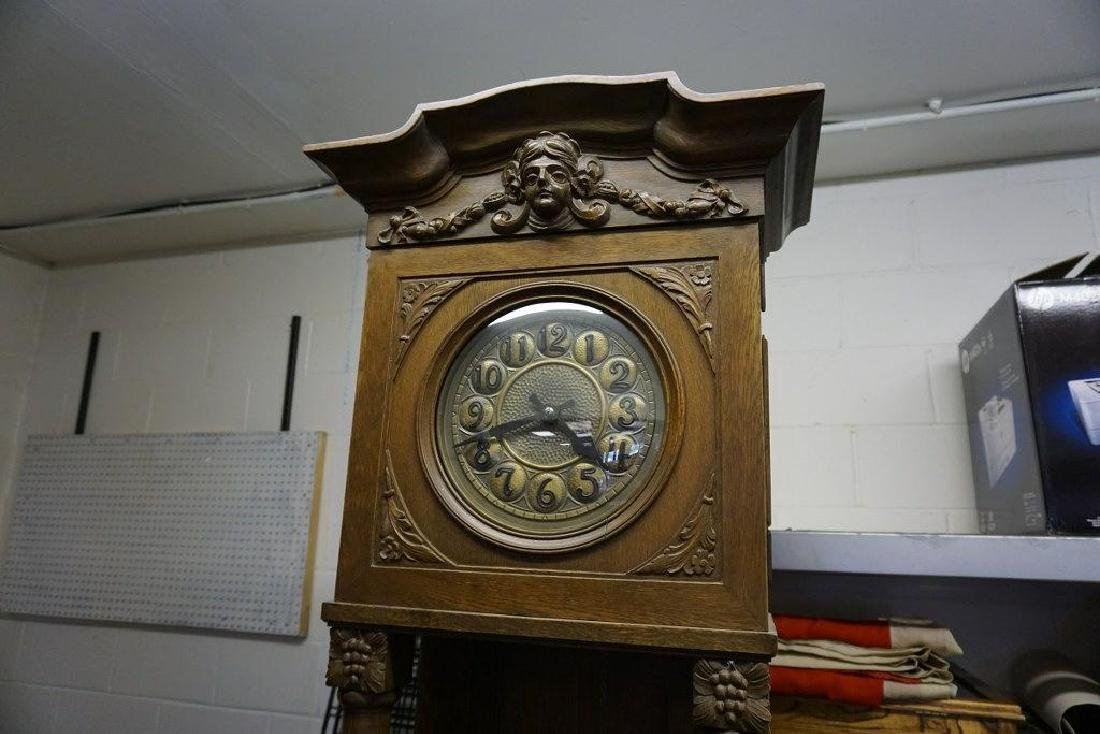 "CONTINENTAL OAK TALL CASE CLOCK, MEASURES 90"" HIGH AND - 2"