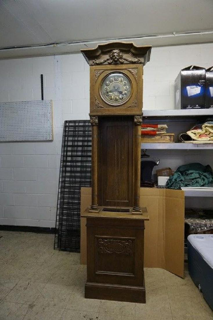 "CONTINENTAL OAK TALL CASE CLOCK, MEASURES 90"" HIGH AND - 5"