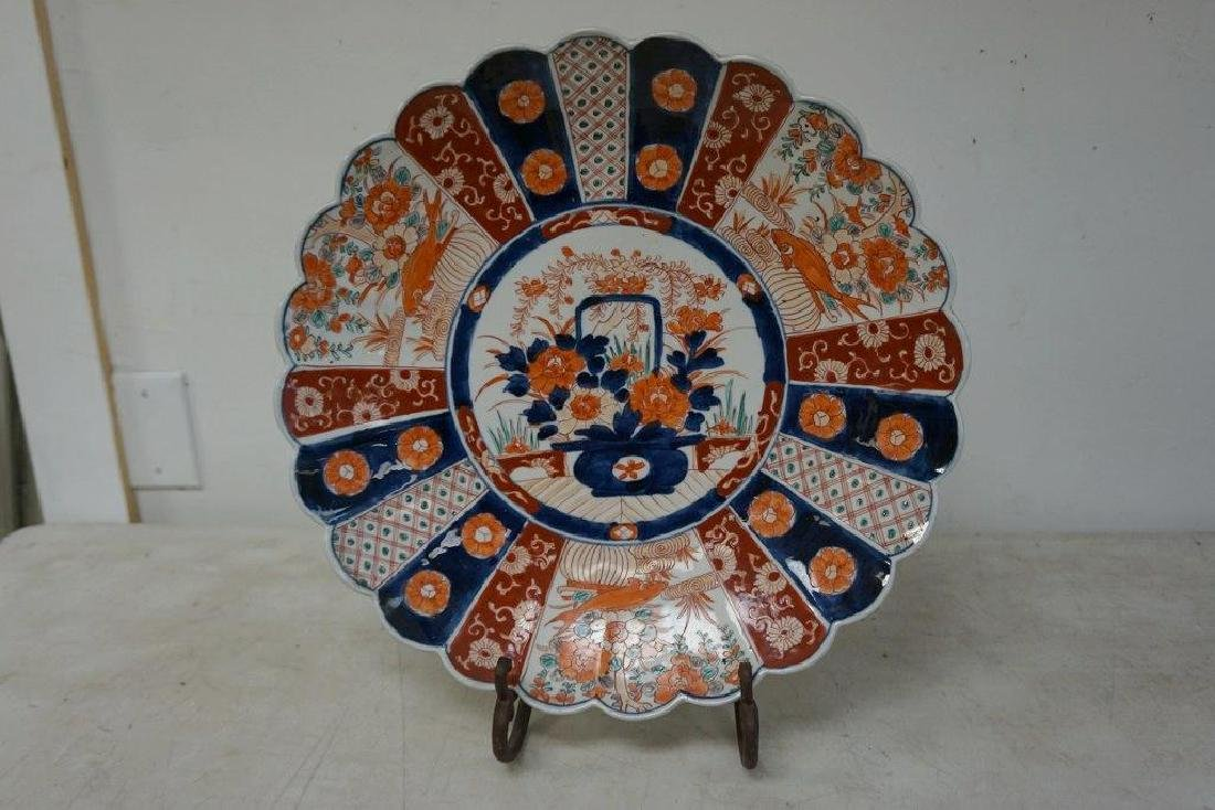EARLY JAPANESE IMARI CHARGER BEAUTIFULLY DECORATED, IN - 3