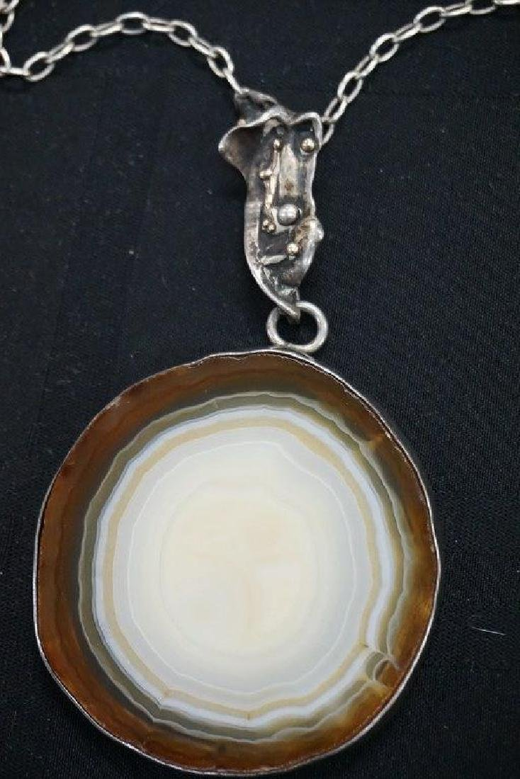 ROLPH SCARLETT AGATE & STERLING NECKLACE, DIRECTLY FROM - 3