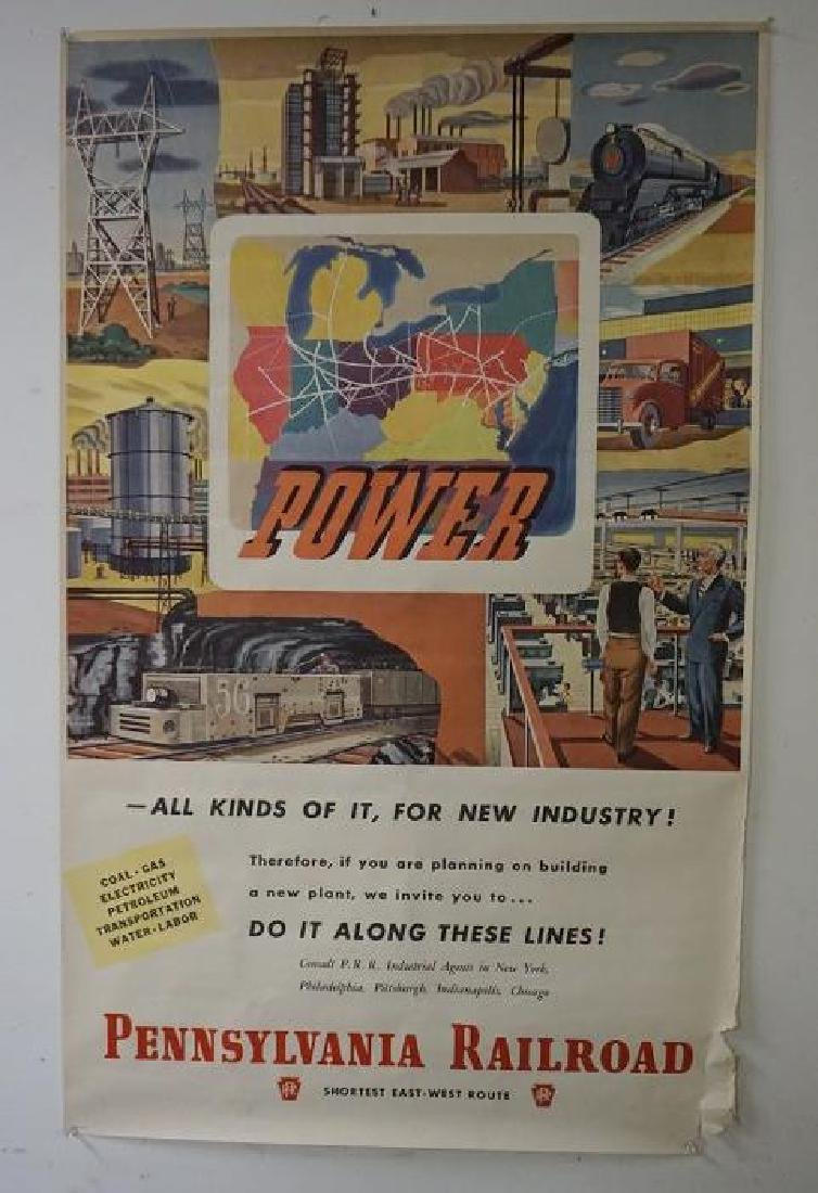 PENNSYLVANIA RAILROAD TRAVEL POSTER, C. 1940'S, SOME