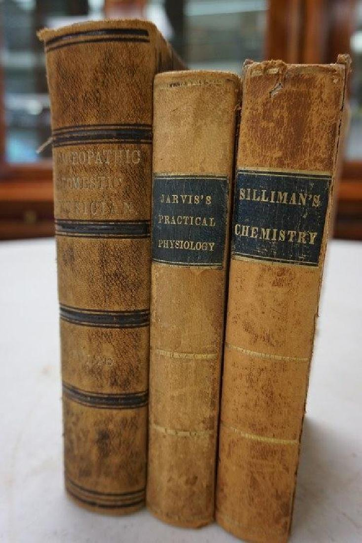 3 MEDICAL BOOKS- FIRST PRINCIPLES OF CHEMISTRY, 1847,