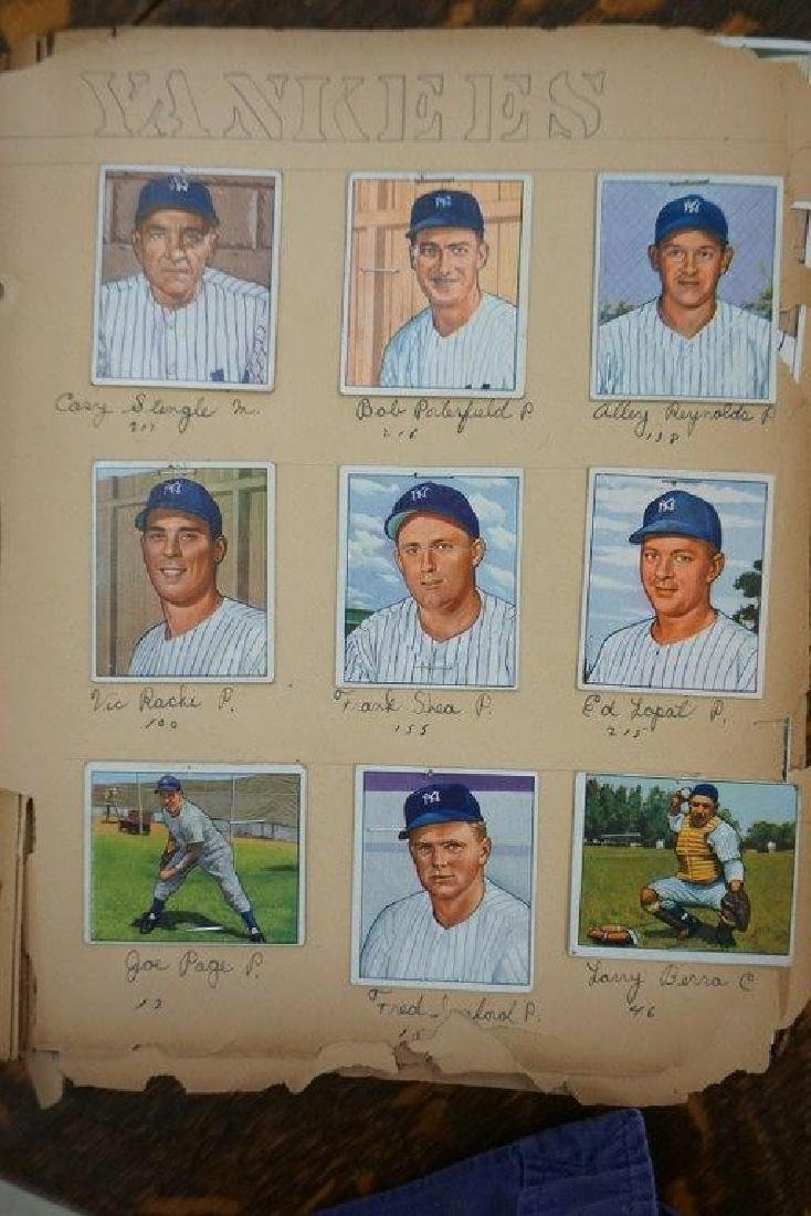 COMPLETE 1950 BOWMAN BASEBALL CARD SET FROM LOCAL
