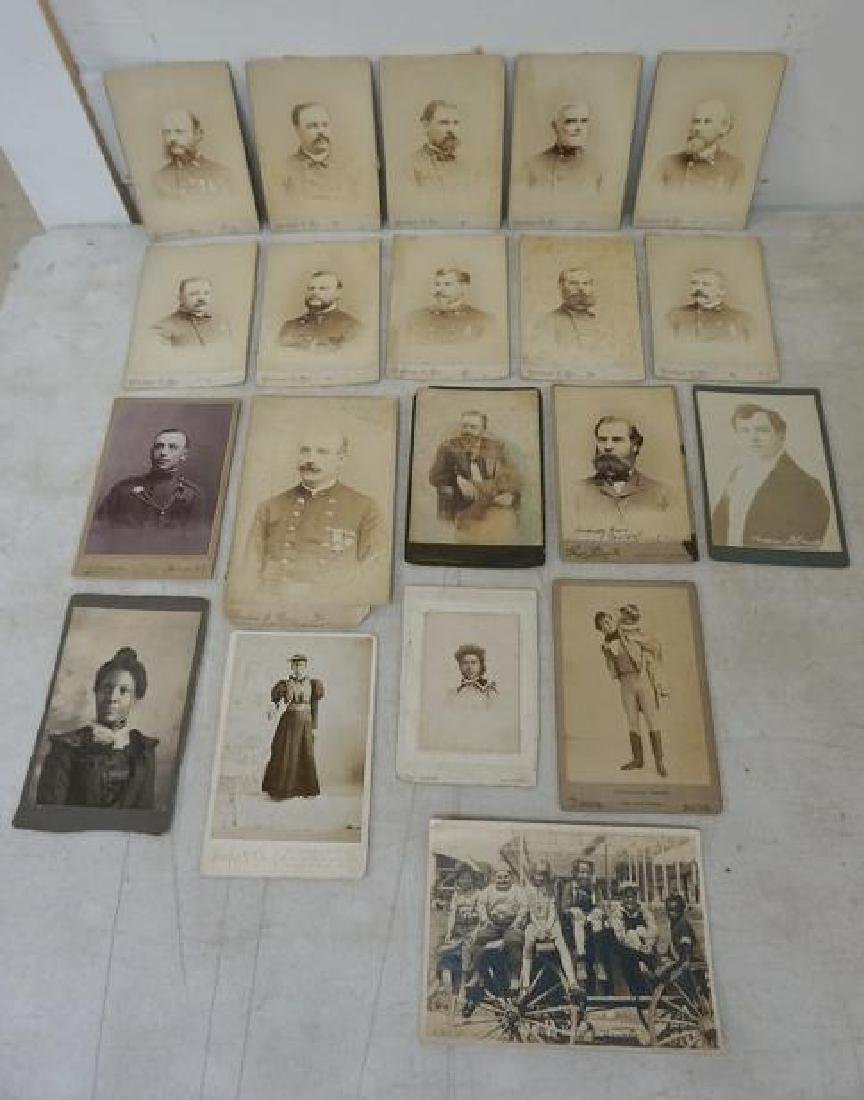 PHOTOGRAPH LOT INCL. CABINET CARDS OF MEMBERS OF 327 (