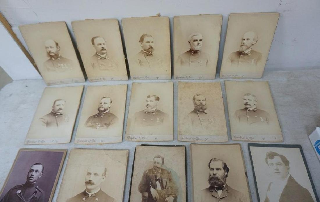 PHOTOGRAPH LOT INCL. CABINET CARDS OF MEMBERS OF 327 ( - 2