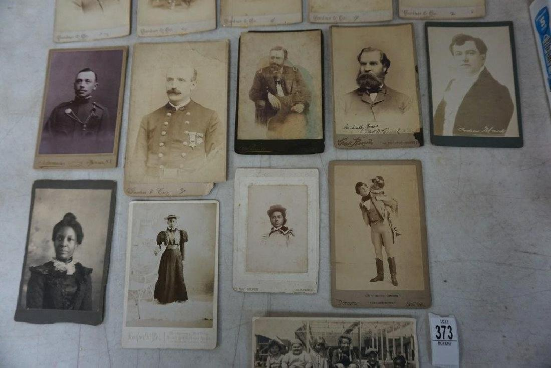 PHOTOGRAPH LOT INCL. CABINET CARDS OF MEMBERS OF 327 ( - 3