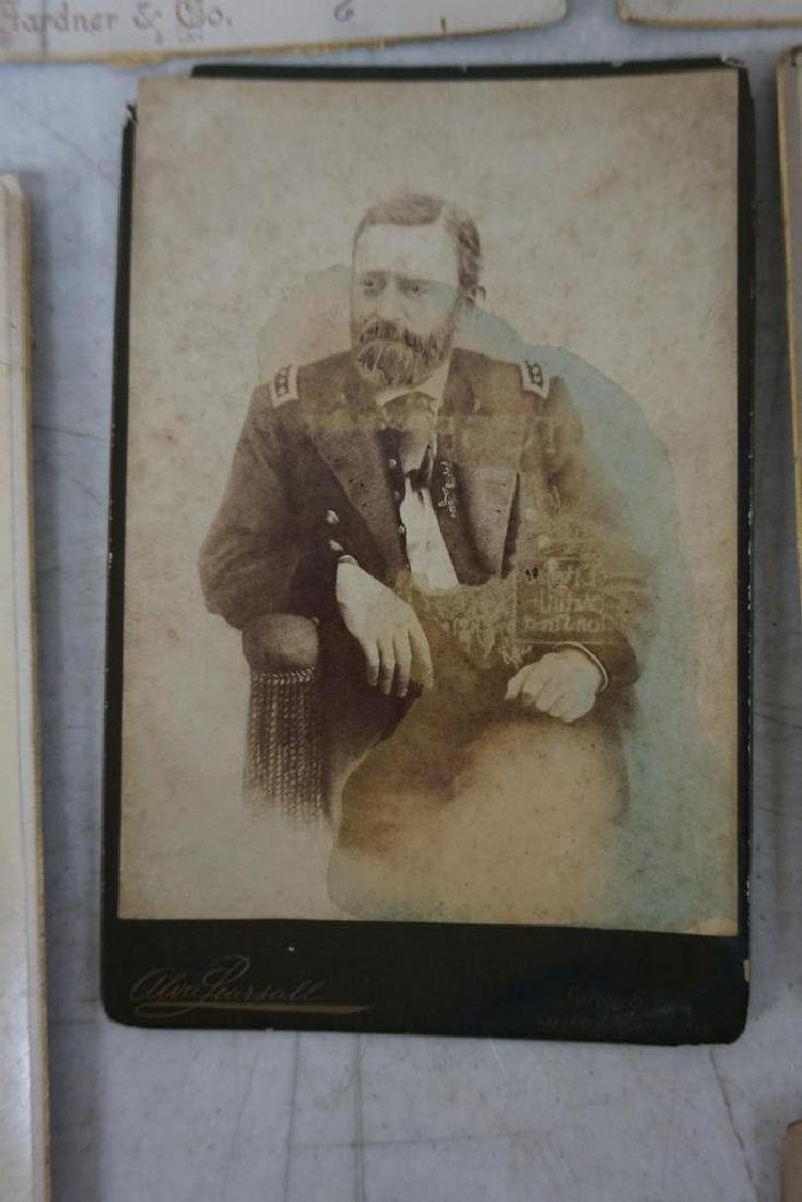 PHOTOGRAPH LOT INCL. CABINET CARDS OF MEMBERS OF 327 ( - 7