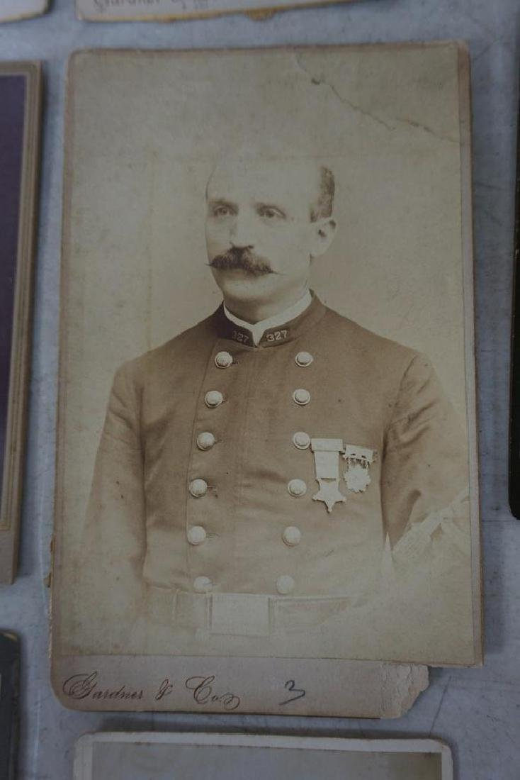 PHOTOGRAPH LOT INCL. CABINET CARDS OF MEMBERS OF 327 ( - 8