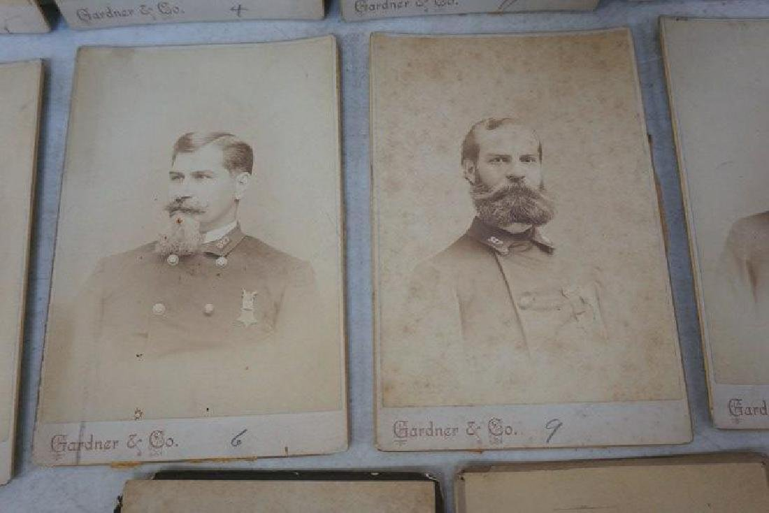 PHOTOGRAPH LOT INCL. CABINET CARDS OF MEMBERS OF 327 ( - 9