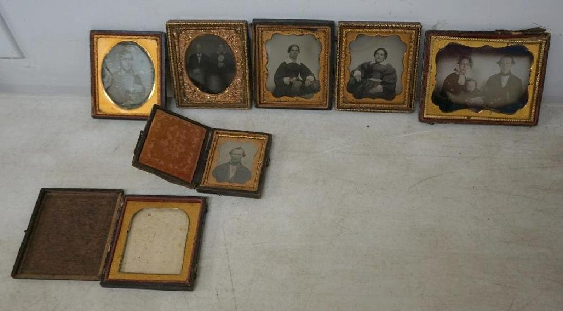 EARLY PHOTOGRAPHY LOT WITH 2 DAGUERREOTYPES & 4