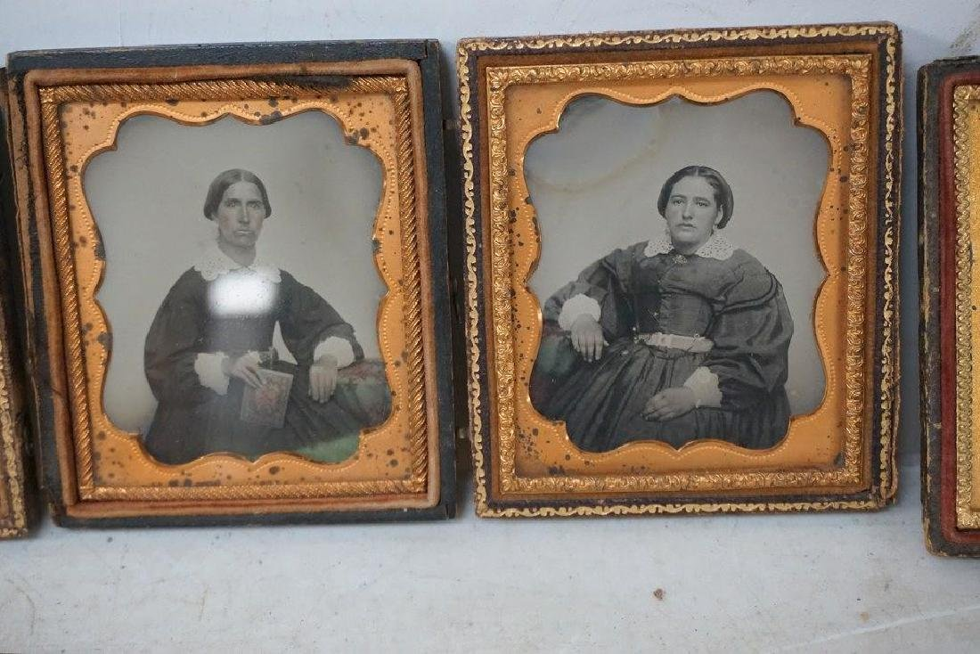 EARLY PHOTOGRAPHY LOT WITH 2 DAGUERREOTYPES & 4 - 2