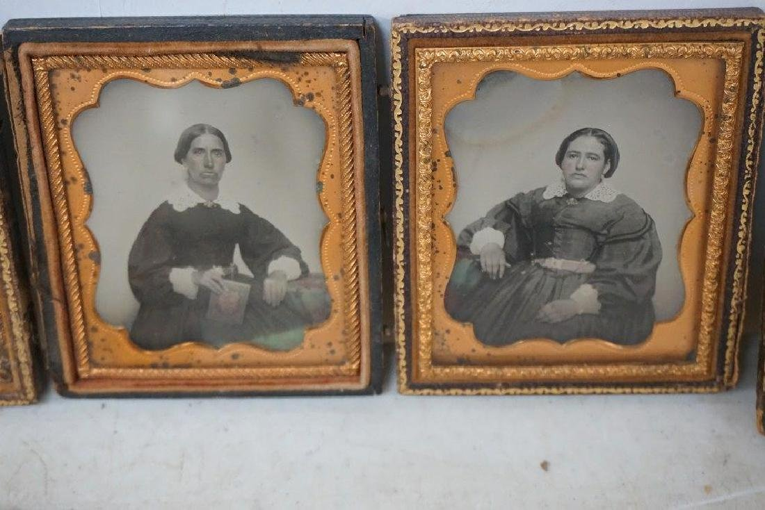 EARLY PHOTOGRAPHY LOT WITH 2 DAGUERREOTYPES & 4 - 4