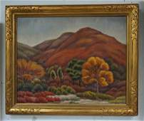 PAUL ROHLAND O/C MOUNTAIN LANDSCAPE, PROBABLY WOODSTOCK