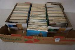 BOX OF POSTCARDS AND RPPC INCLUDING TRAVEL, FOREIGN,