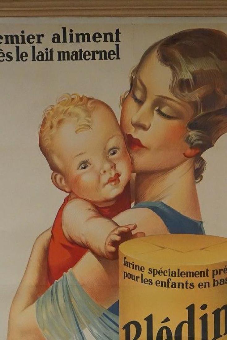 BLEDINE 1931 LARGE FRENCH ADVERTISING POSTER, LINEN - 2