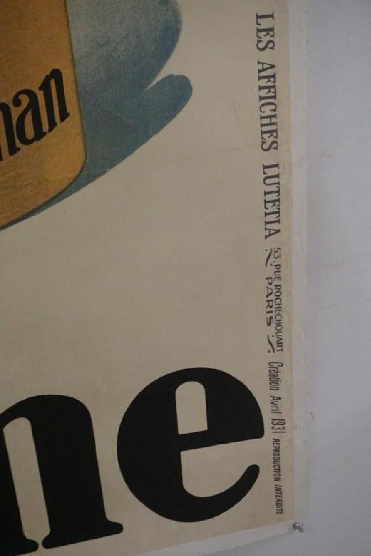 BLEDINE 1931 LARGE FRENCH ADVERTISING POSTER, LINEN - 4