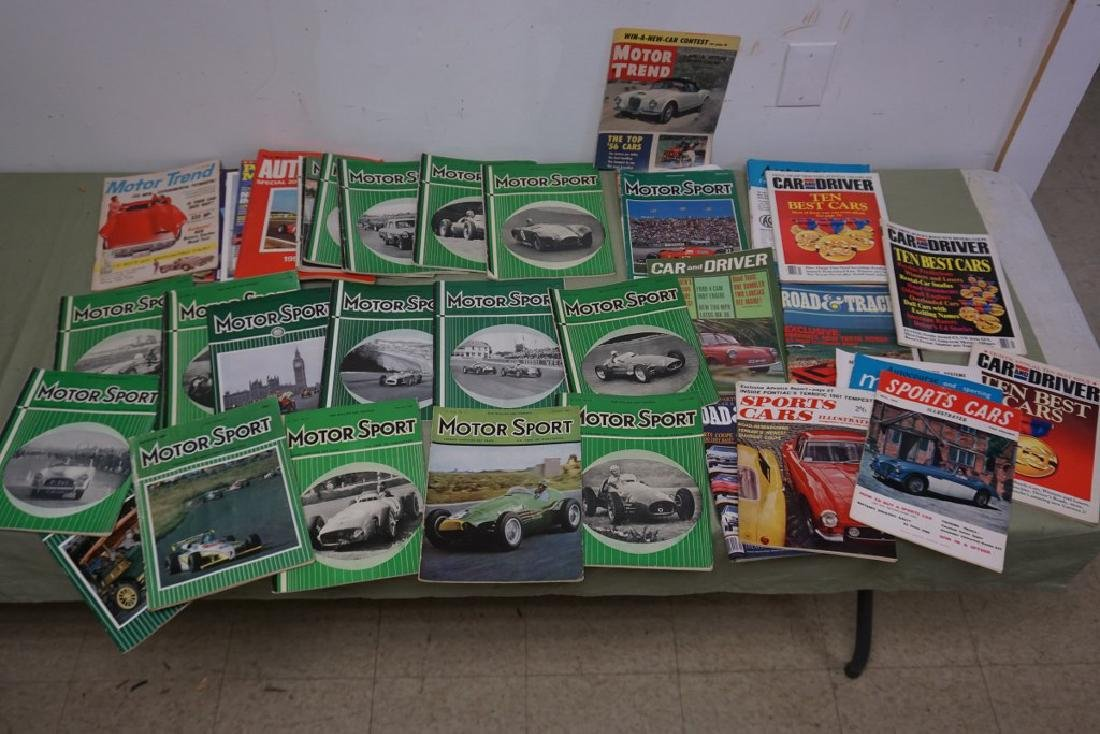 BOXLOT MOSTLY 1950'S MOTOR SPORT CAR MAGAZINES, AND