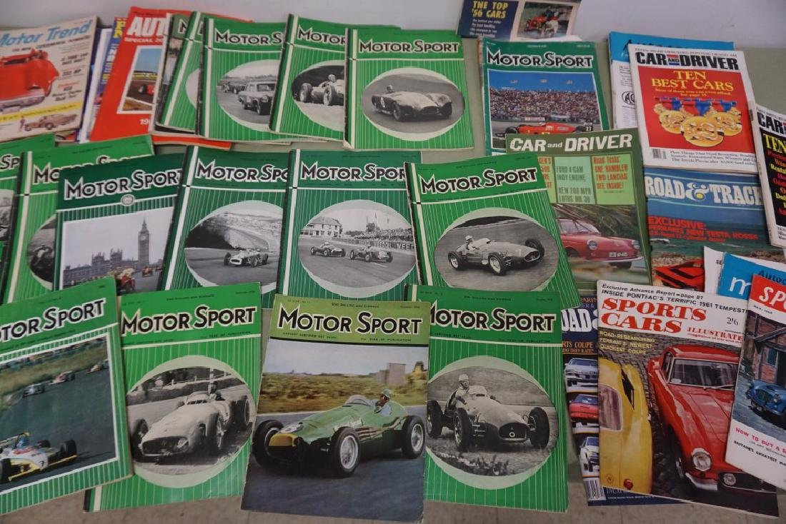 BOXLOT MOSTLY 1950'S MOTOR SPORT CAR MAGAZINES, AND - 3