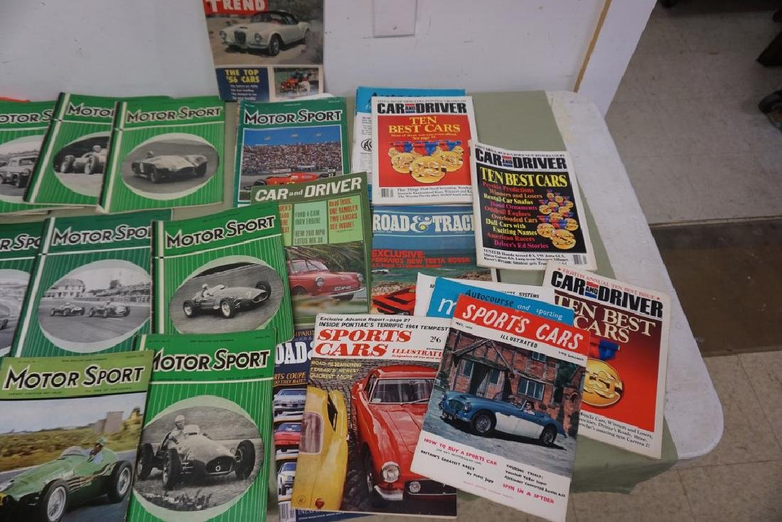 BOXLOT MOSTLY 1950'S MOTOR SPORT CAR MAGAZINES, AND - 4