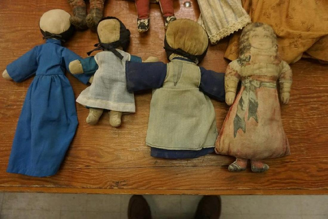 LOT OF 8 EARLY CLOTH DOLLS - 5