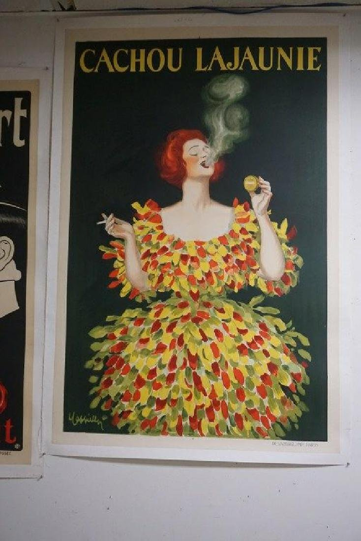 LARGE FRENCH ADV. POSTER CACHOU LAJAUNIE FOR TOBACCO, - 5