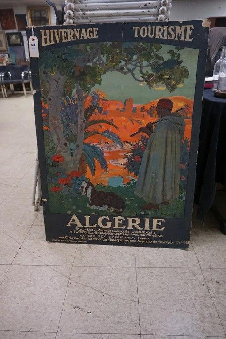 FRENCH TRAVEL POSTER-ALGERIE, HIVERNAGE TOURISME, MAN
