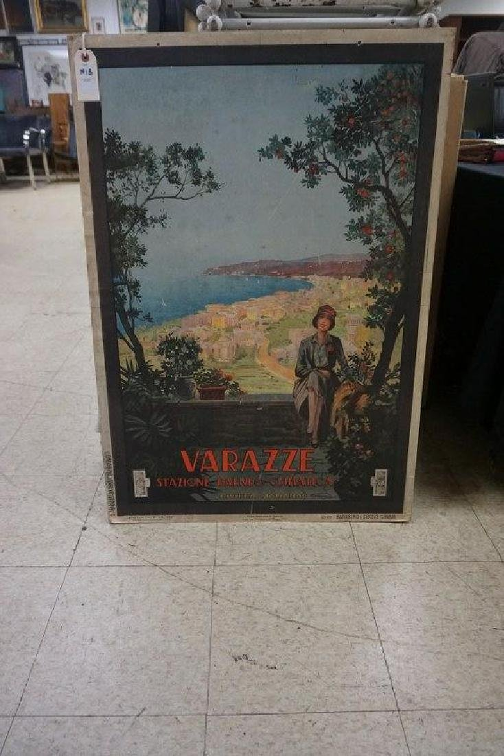 ITALIAN TRAVEL POSTER-VARAZZE STAZIONE