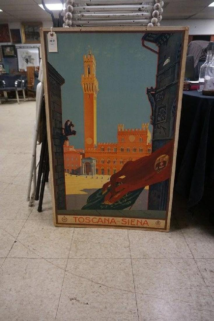 ITALIAN TRAVEL POSTER-TOSCANA-SIENA, BUILDING W/BELL ON