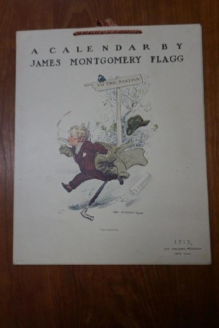 JAMES MONTGOMERY FLAGG 1913 COMPLETE CALENDAR, MEASURES