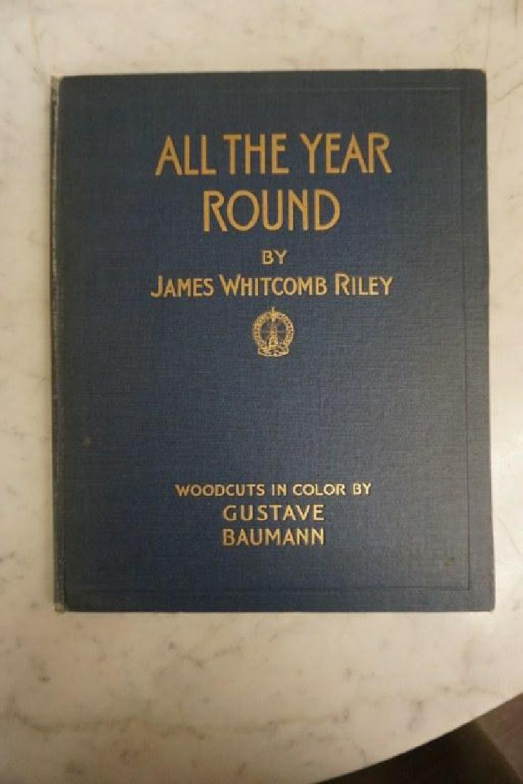 BOOK-ALL THE YEAR ROUND, WOODCUTS BY GUSTAVE BAUMANN,