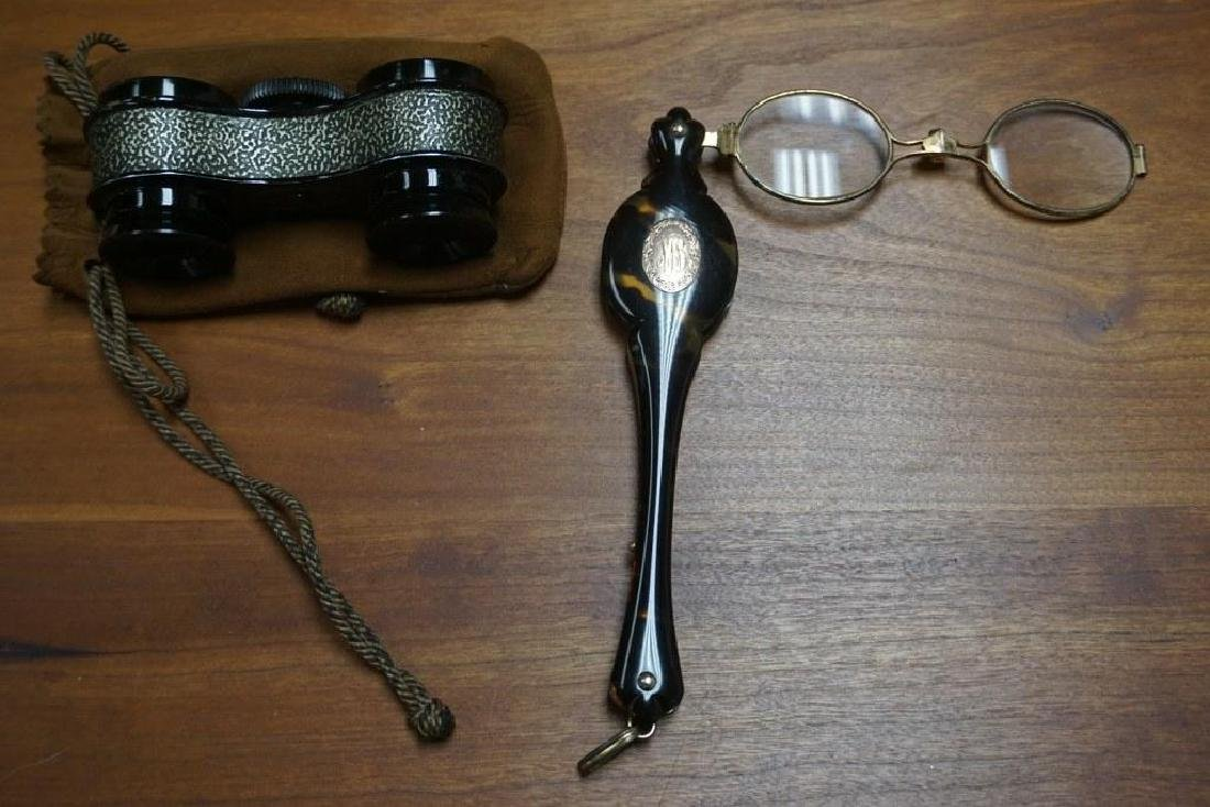 LORGNETTE & BAUSCH AND LOMB SPORT GLASSES, VERY GOOD