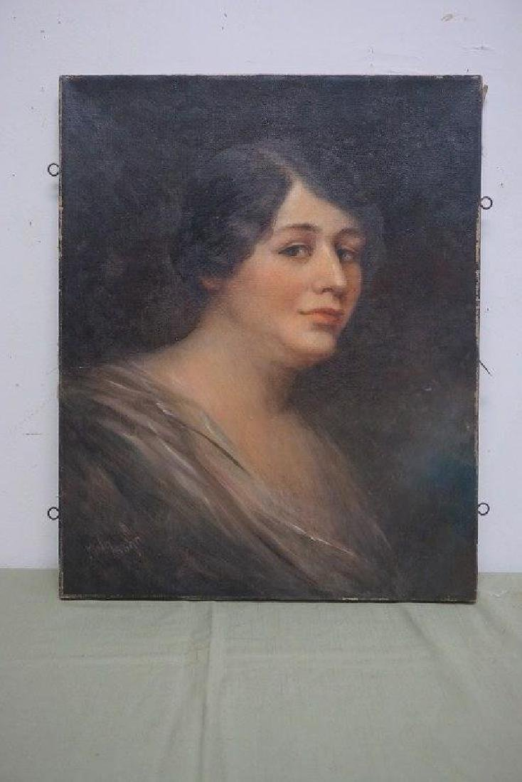 JOHN KING O/C PORTRAIT OF A WOMAN, SIGNED LOWER RIGHT (