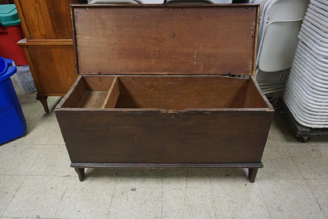 EARLY HUDSON VALLEY BLANKET BOX, CUT OUT BASE, TOP IS - 5