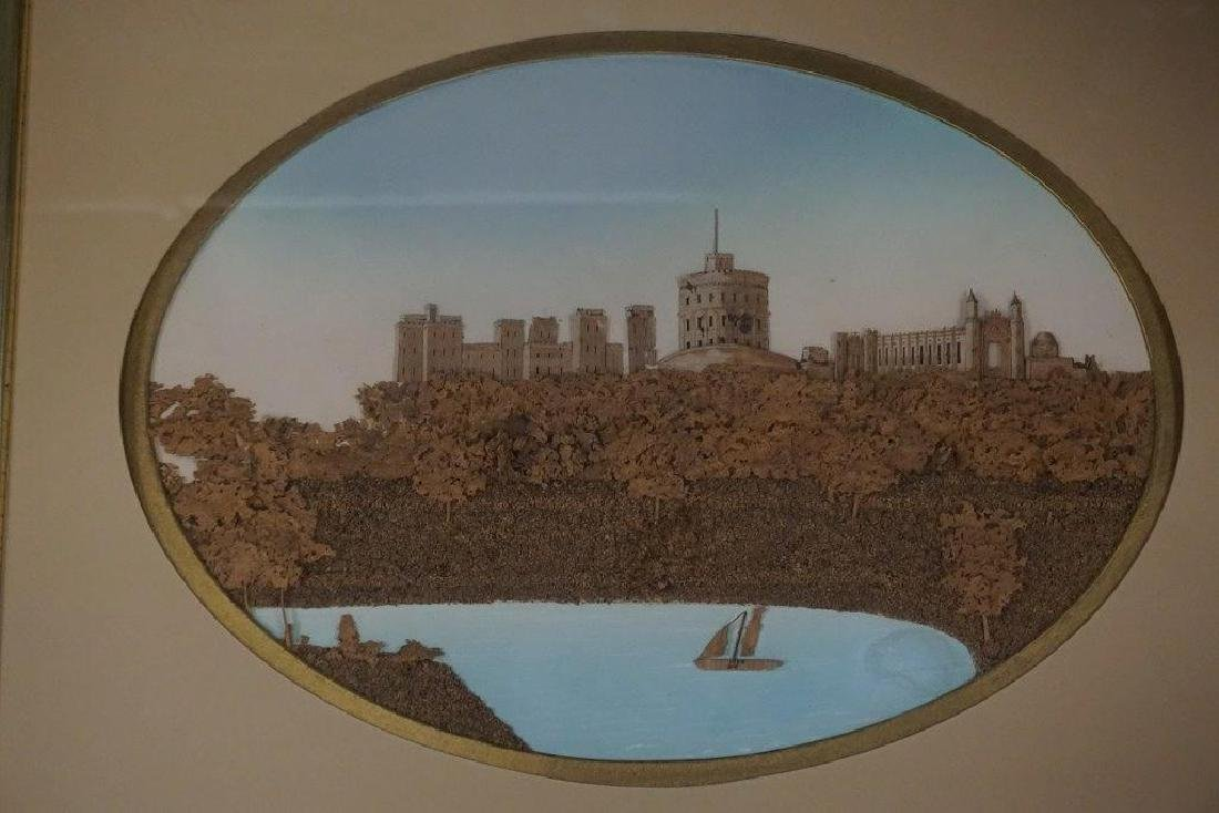 VICTORIAN FRAMED 3 DIMENSIONAL CORK & WOOD LANDSCAPE, - 2