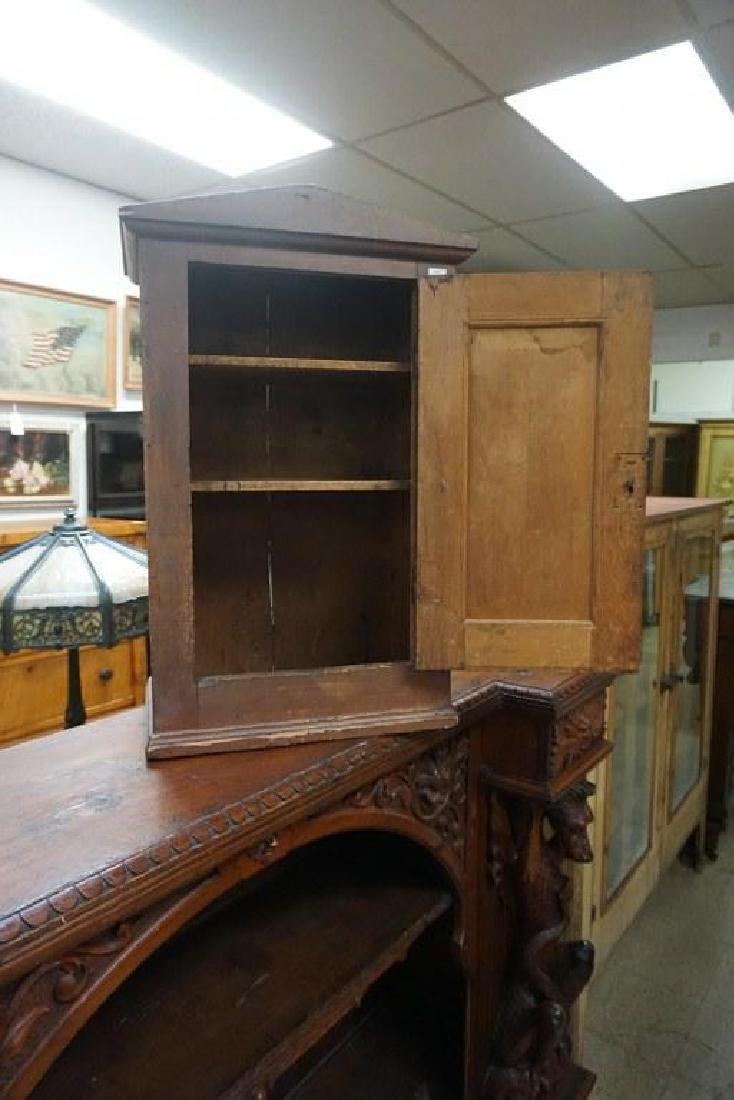 EARLY COUNTER TOP CUPBOARD IN OLD RED FINISH, MEASURES - 2