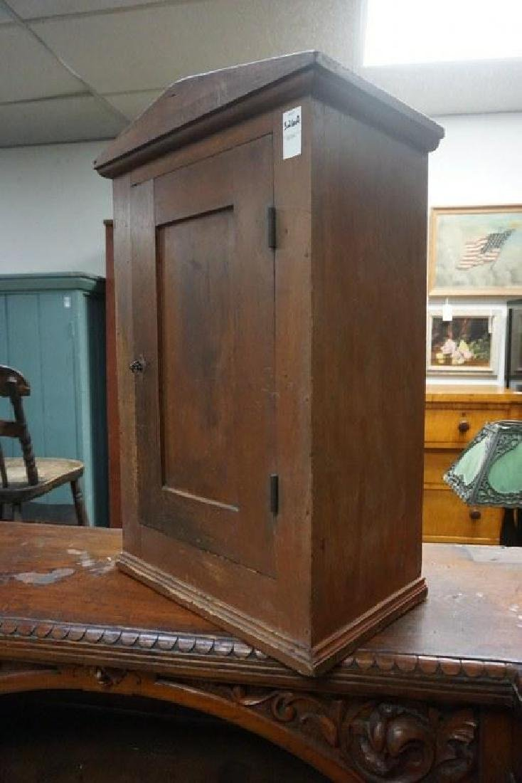 EARLY COUNTER TOP CUPBOARD IN OLD RED FINISH, MEASURES - 3