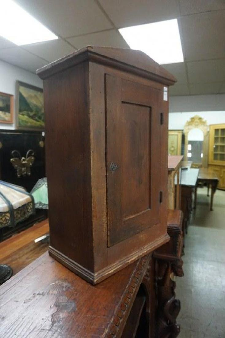 EARLY COUNTER TOP CUPBOARD IN OLD RED FINISH, MEASURES - 4