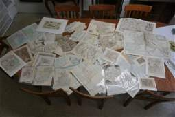 BIG LOT EARLY MAPS AND SOME MISC PRINTS FROM THE