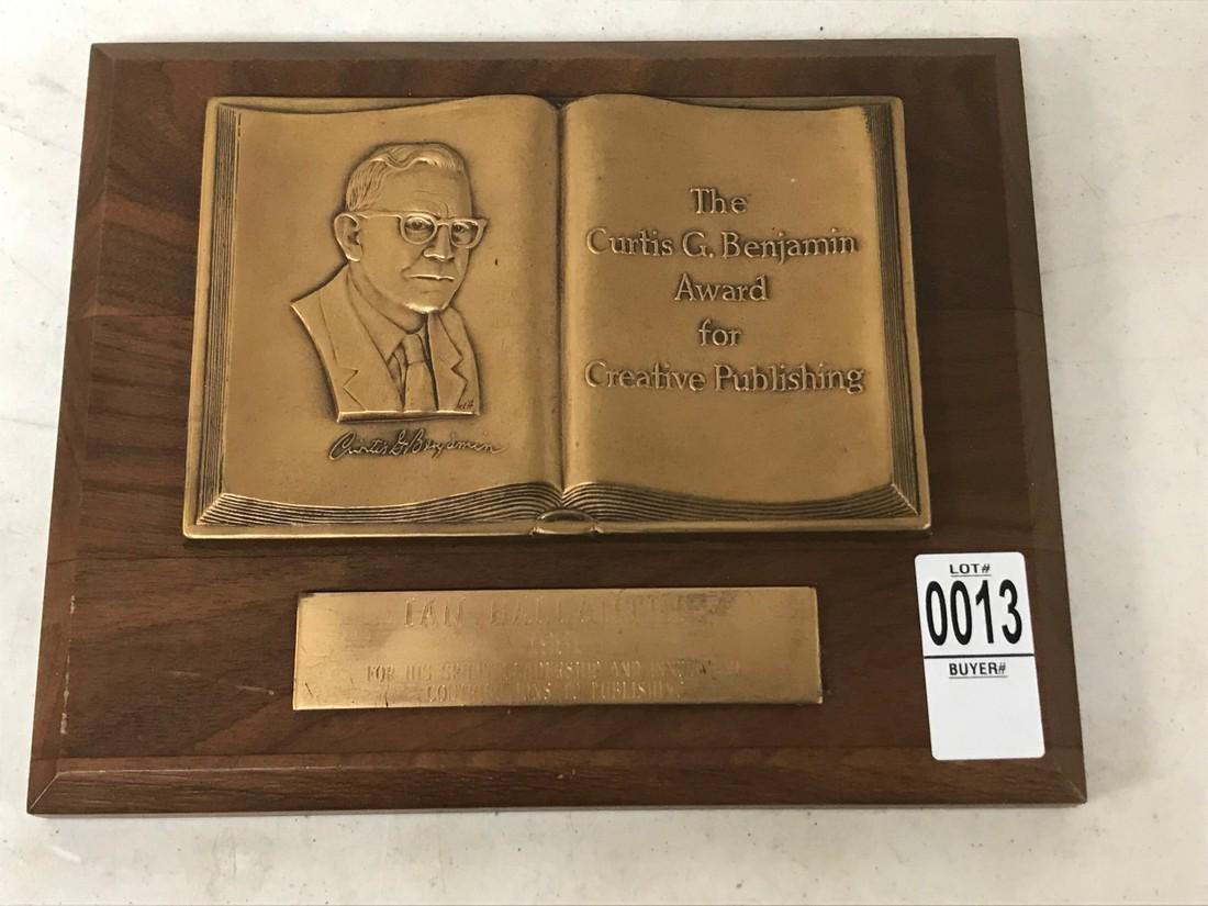 1981 THE CURTIS G. BENJAMIN AWARD FOR CREATIVE