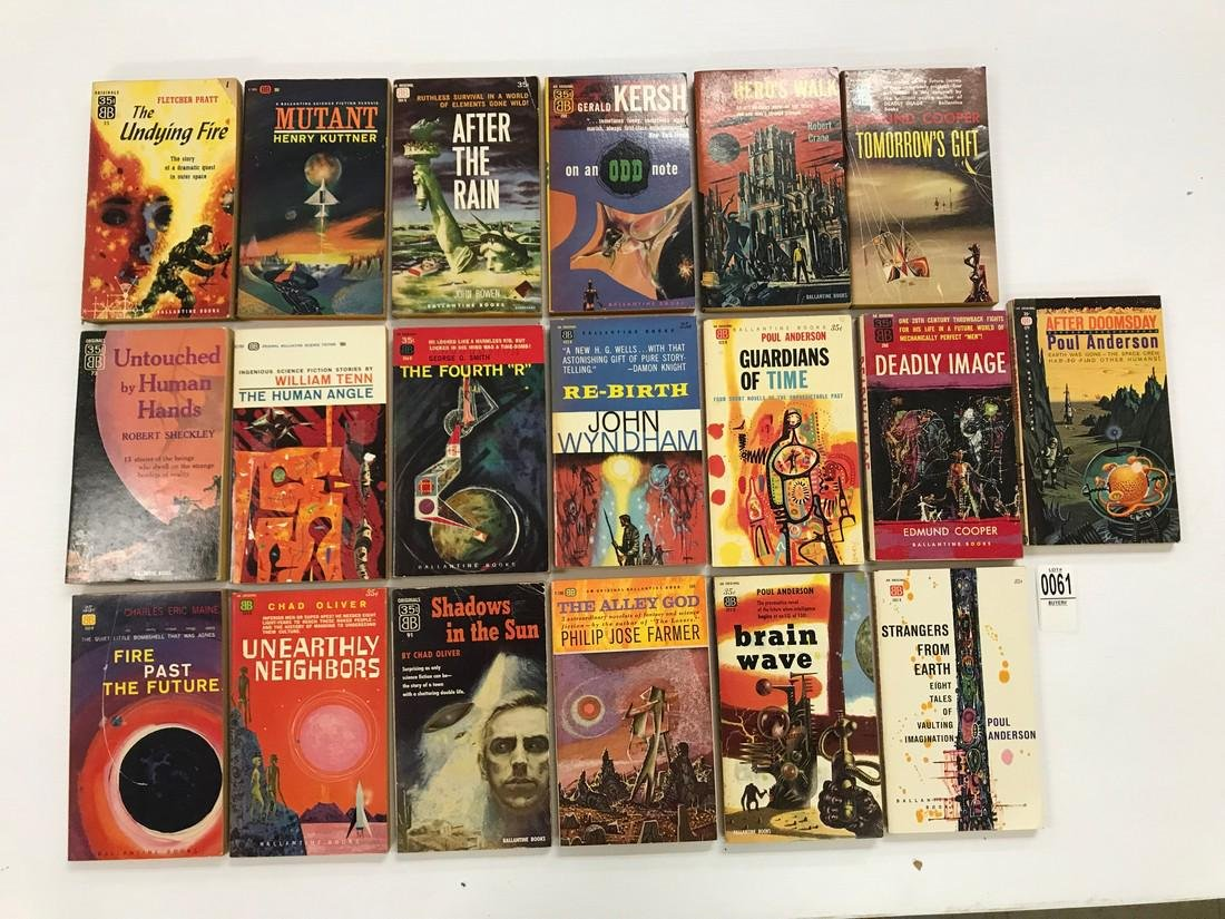 1950s Ballantine Science Fiction PB, This lot of 15