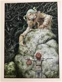 BRIAN FROUD ORIGINAL ILLUSTRATION FROM LAND OF FROUD,