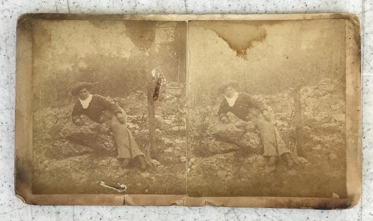 STEREOVIEW OF CALAMITY JANE BY R BENECKE ST. LOUIS