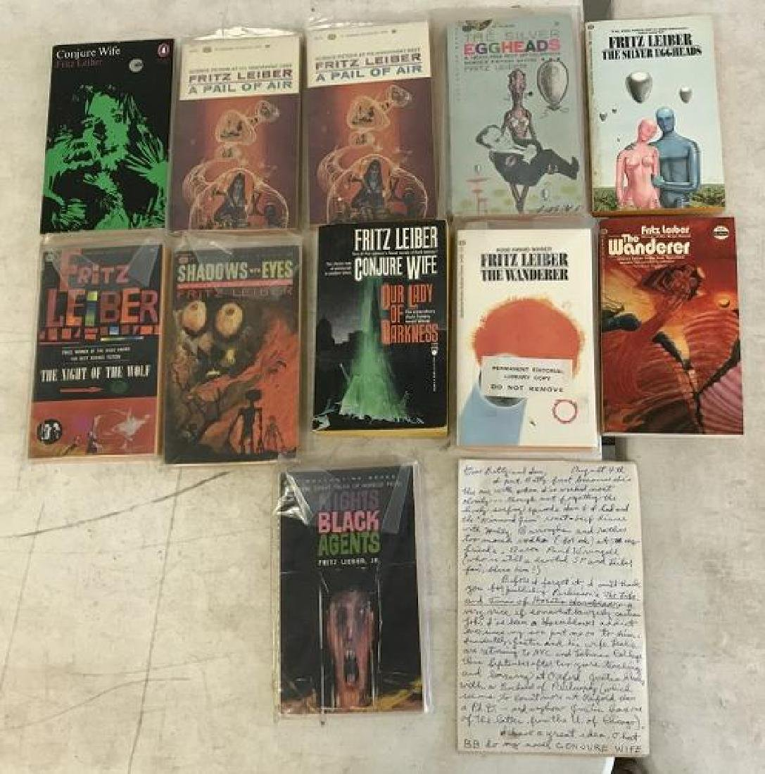 FRITZ LEIBER (11) PAPERBACKS WITH SIGNED LETTER TO IAN