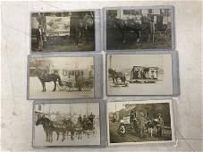 (6) RPPC HORSE & WAGONS IN PILLSBURY WILD WEST, AND