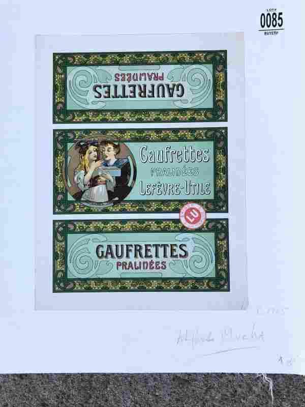 POSTER-FRENCH, GAUFRETTES PRALINEES LEFEVRE-UTILE, C.