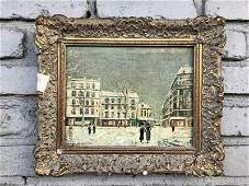 MAURICE UTRILLO  SIGNED SMALL PARIS STREET SCENE