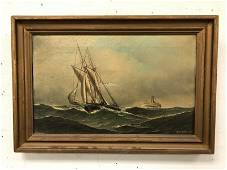 ANTONIO JACOBSEN O/C WITH 2 SHIPS, ONE LOOKS LIKE A