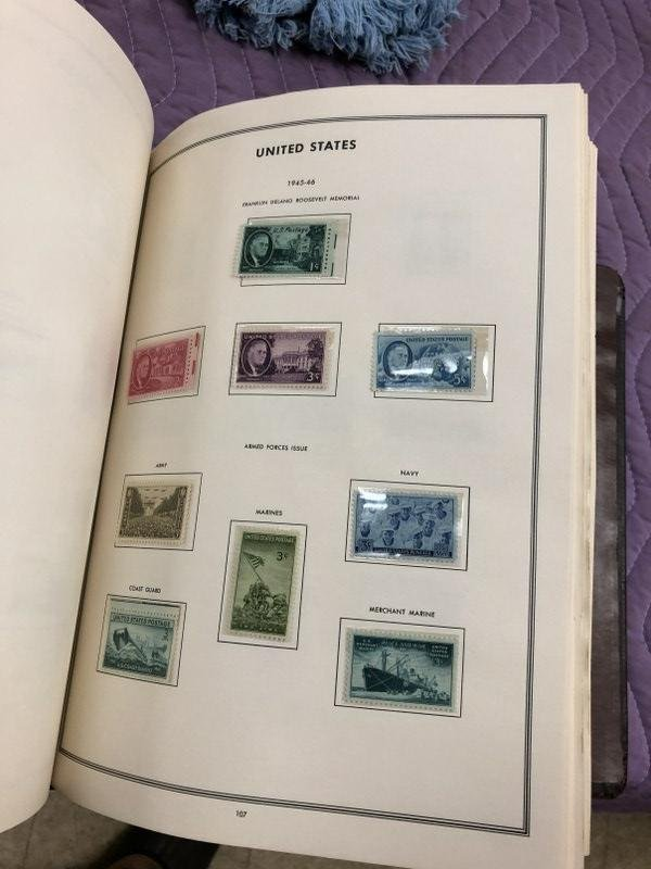 U S A CLASSIC STAMP ALBUM, FROM NYC ESTATE, WHERE