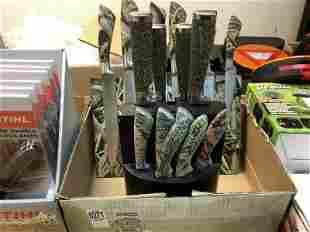 BOXLOT 3 KNIFE BLOCK SETS