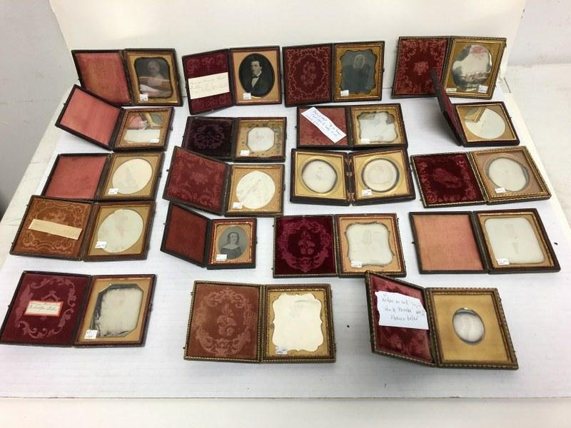19 Fine sixth-plate daguerreotypes (2 are in 1 case) &